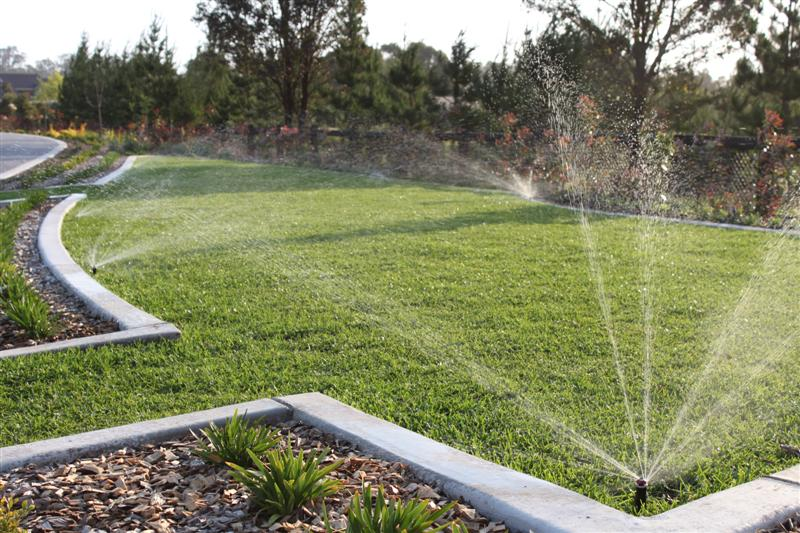 Residential lawn watering system