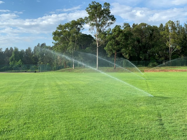 Rugny League field watering system Sydney