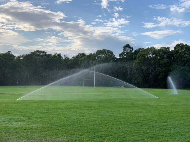 School rugby field watering system in Sydney