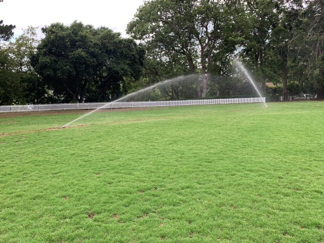 Cricket field irrigation system installation Sydney