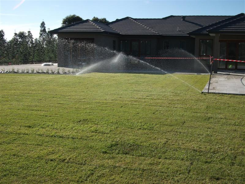 Lawn watering system for acreage
